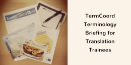 TermCoord presents the IATE Terminology Projects