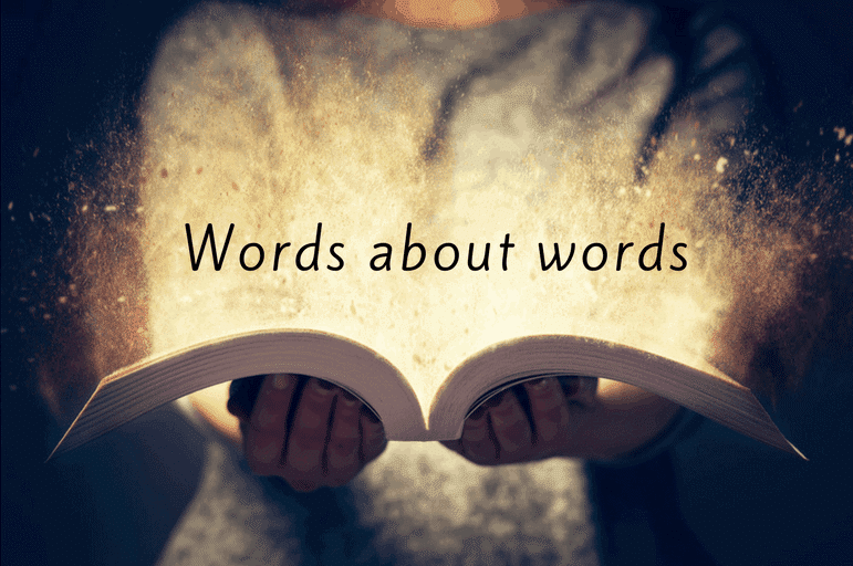 Words about words banner