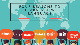 Video Fix: Four Reasons to Learn a New Language
