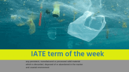 IATE Term of the Week: marine litter