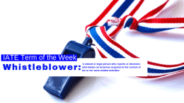 IATE Term of the Week: Whistleblower