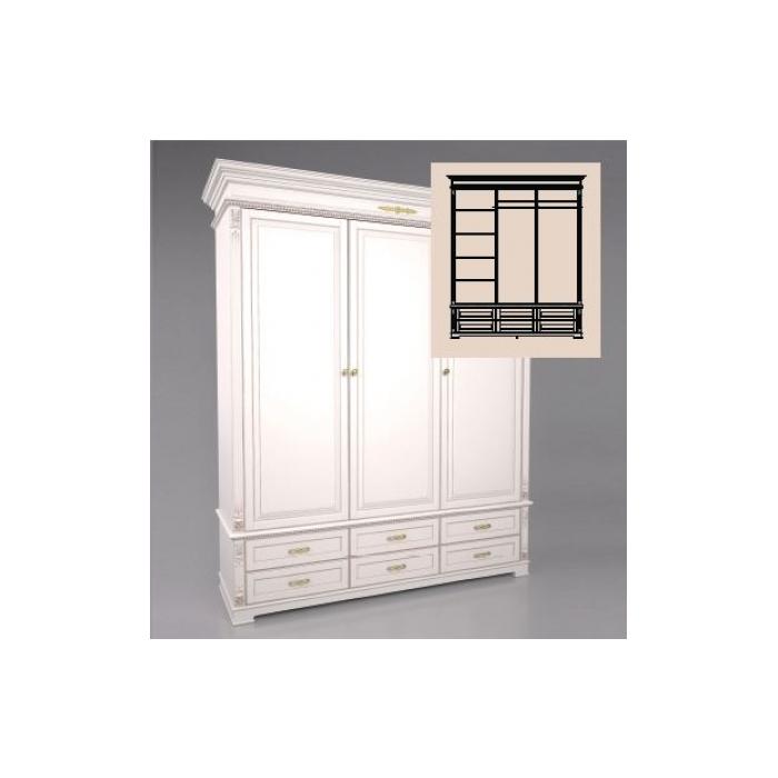 Шкаф 3-х дверный A-10-1800 (8)