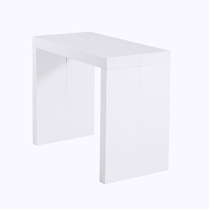 Стол обеденный-консоль N-110 глянец белый 2