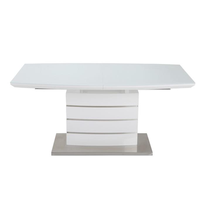Стол обеденный DT211-1 белый глянец,стекло белоснежное 3