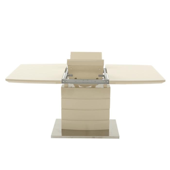 Стол обеденныйDT211-1-S бежевый глянец,стекло бежевое 2
