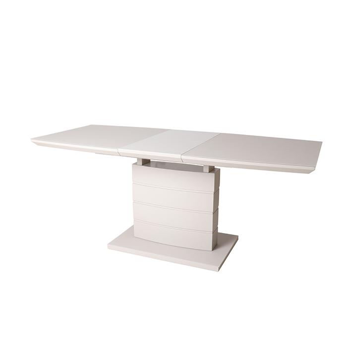 Стол обеденный DT211-1S 120 глянец капучино, стекло капучино