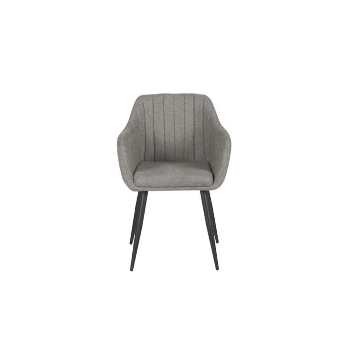 Стул ОКAY8709 Кресло черный, меланж серый stitch
