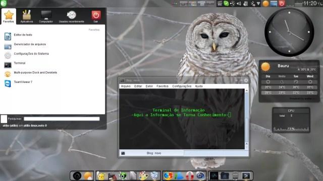 Ambiente KDE 4.8.5 no OpenSUSE 12.2