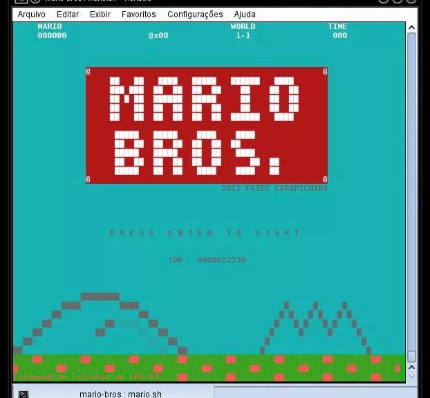 Tela Principal - Mario Bros Shell Script