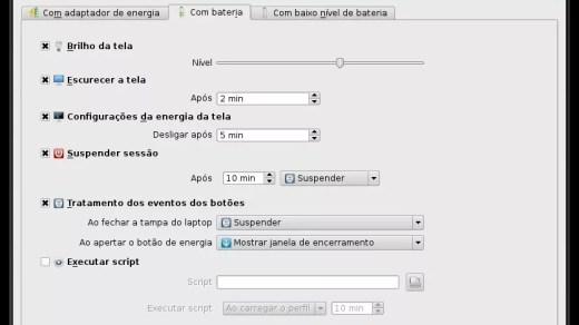 Gerenciando Energia KDE (Notebook)