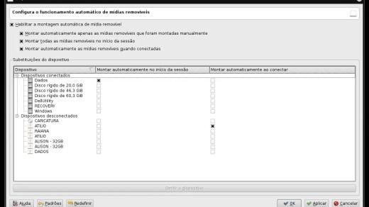 Dispositivos removíveis no KDE