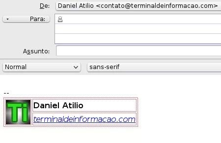 Exemplo de e-Mail já com assinatura