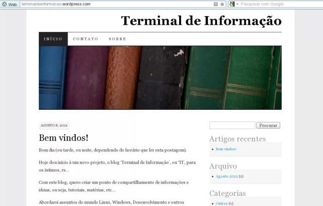 Primeiro design - Terminal de Informação
