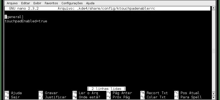 Habilitando e desabilitando o TouchPad no KDE