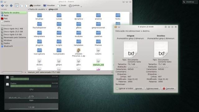 Sobrepondo arquivos de configuração