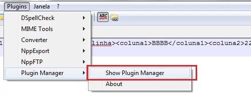 Show Plugin Manager