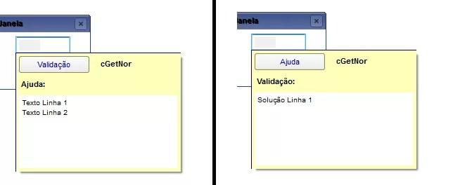 Exemplo de Help Customizado