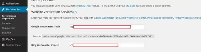 Ferramentas do WordPress