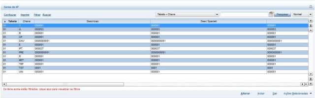 Grid com os dados de uma tabela genérica - SX5