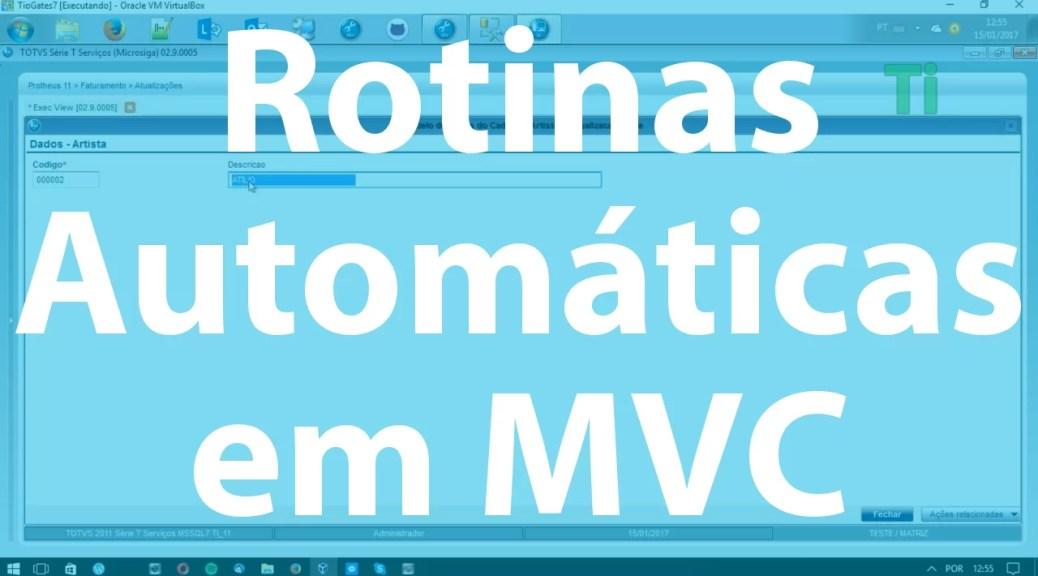 Rotinas Automátcias em MVC