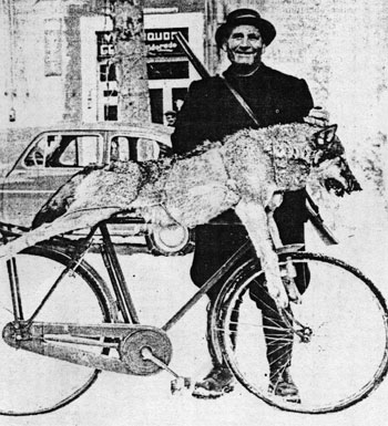 Eufranio Chiaretti ed il lupo morto (1965 .ca)