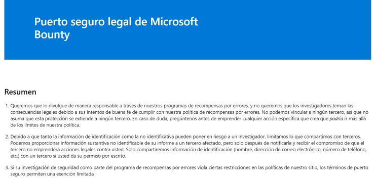 Puerto seguro Microsoft
