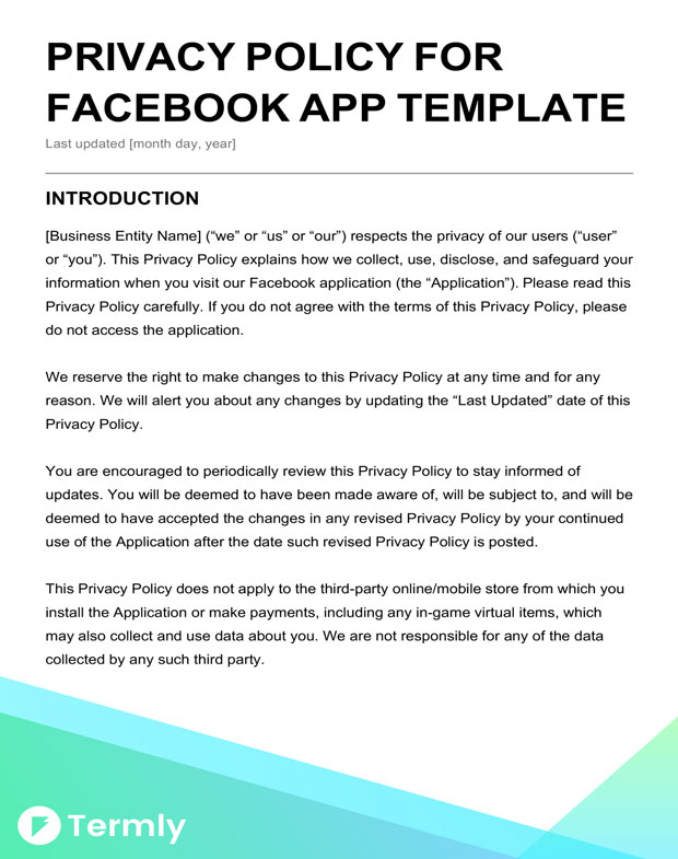 Free Privacy Policy Templates