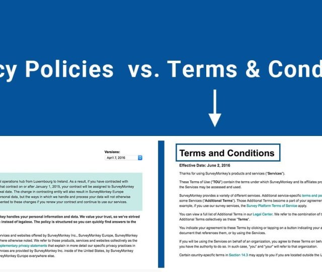 Privacy Policies Vs Terms And Conditions
