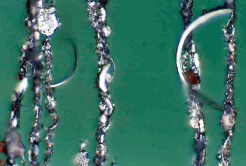Morfología de las partículas para el análisis de causa raíz