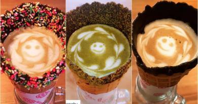 Kafe Ini Tawarkan Sensasi Minum Kopi di Atas Cone Es Krim