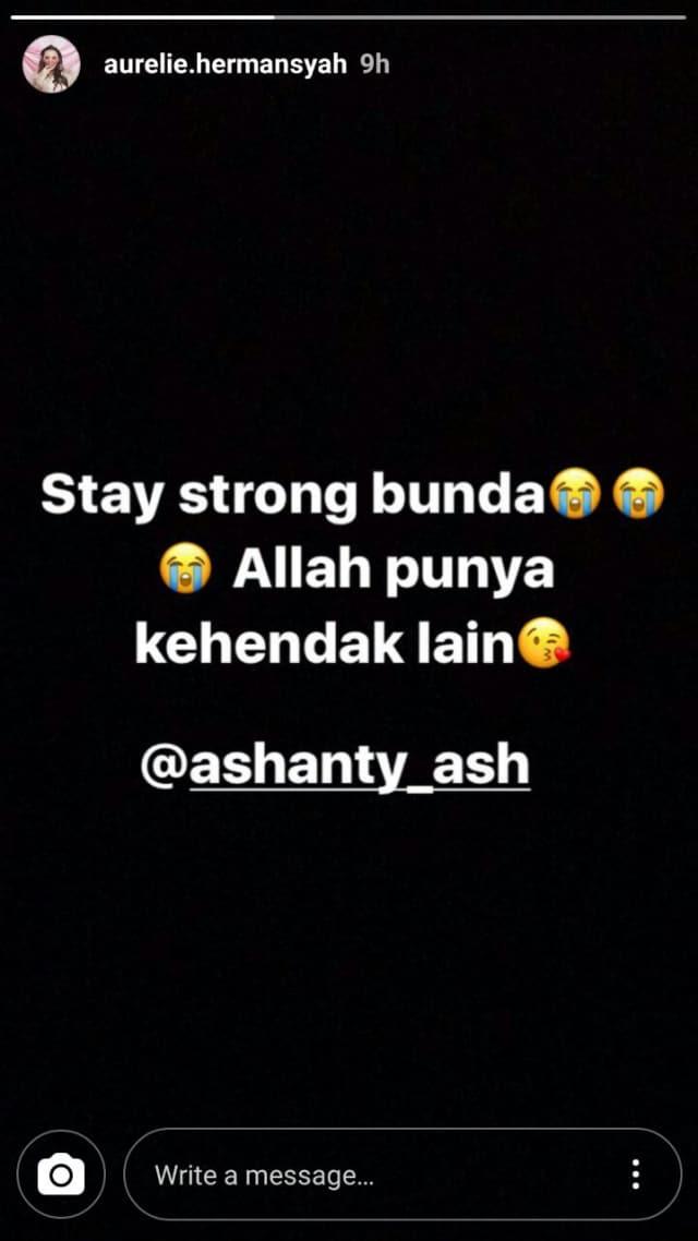 Ashanty Keguguran keluarga Anang Hermansyah Bersedih