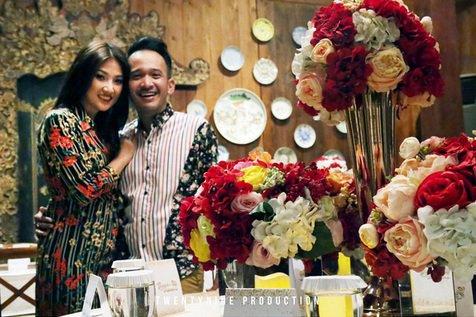 Dinner Ultah Ruben dan Sarwendah Begitu Romantis di Penuhi Bunga