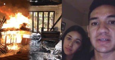 Kondisi Rumah Andre White dan Nana Mirdad Yang Terbakar