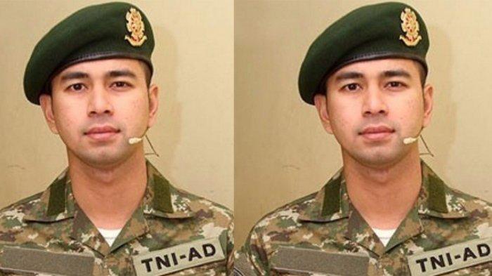 Dikira Oppa yang lagi Wamil, Raffi Ahmad Pakai Seragam TNI