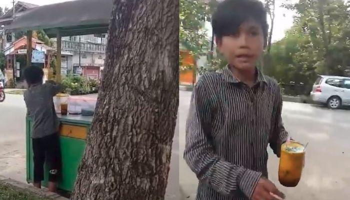 Salut! Umur 13 Tahun Sudah Gantikan Bapaknya Jualan Es Cendol