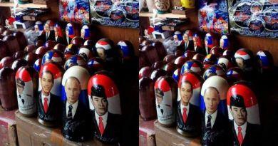 keren!di Toko Souvenir Rusia Ada Wajah Soekarno, Jokowi dan Ahok