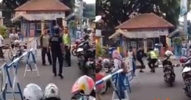 Video Viral Pria Ngamuk dan Memukuli Polisi