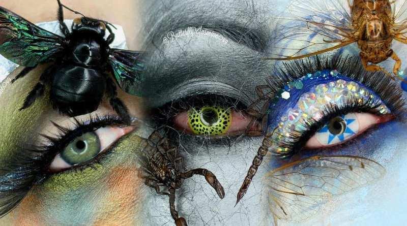 Gadis Asal California Ciptakan Rias Make Up Unik Pakai Serangga