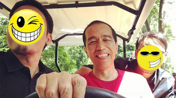 Ekspresi Vincent & Desta Saat Disopiri Presiden Jokowi Keliling Istana