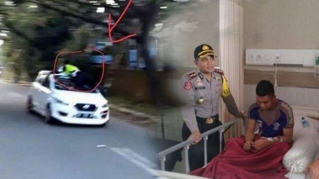 Video Oknum TNI Tabrak Anggota Polantas Saat Ditilang