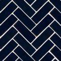 Bejmat Royal blue i sildeben mønster