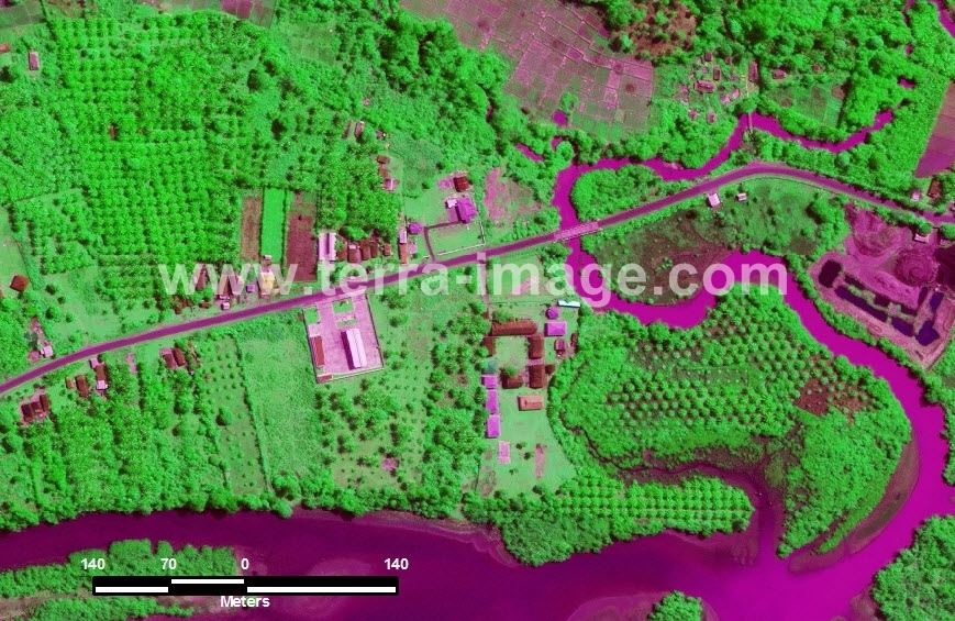 39 Linau WorldView2 Green color Citra Satelit Proyek Foto Citra Satelit Tahun 2014