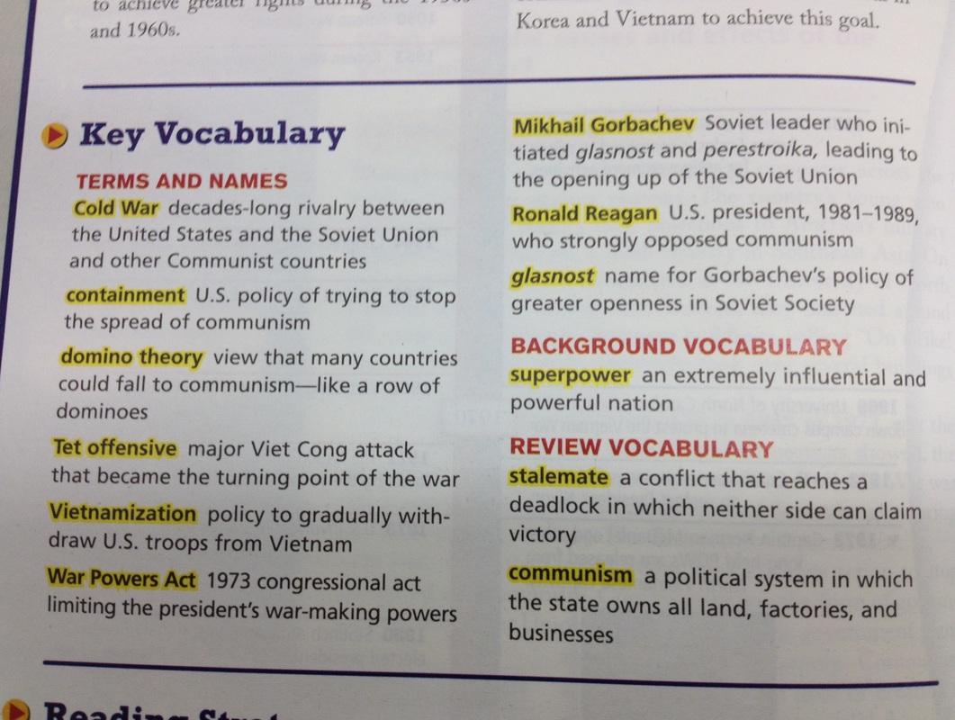 4 12 Cold War Vocab And Timeline