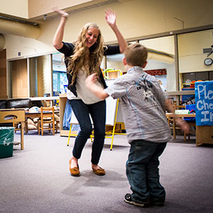 Games provide a way to test children's readiness for school. (Photo: Heather Turner)