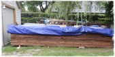 Bretter für das Dach / planks for the roof