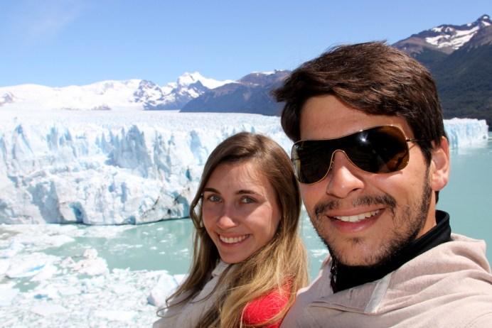 Ficamos admirados com a magnitude da geleira