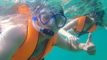 Curtindo muito o mergulho