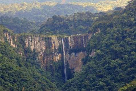 A primeira vista da Cachoeira do Avencal