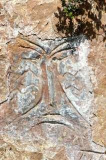 Alguma das inscrições rupestres, no caminho para a cachoeira