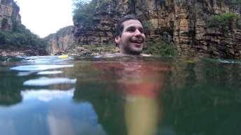 Era hora de nadar um pouco por entre os cânions